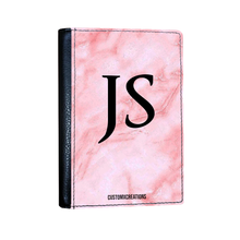 Load image into Gallery viewer, Personalised Pink Marble Passport Cover-customxcreations