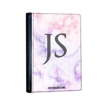 Load image into Gallery viewer, Personalised Pink & Purple Marble Passport Cover-customxcreations