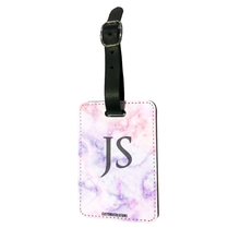 Load image into Gallery viewer, Personalised Pink & Purple Marble Luggage Tag-customxcreations