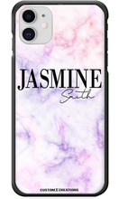 Load image into Gallery viewer, Personalised Pink & Purple Marble iPhone 11 Case-customxcreations