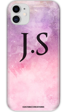 Load image into Gallery viewer, Personalised Tie Dye Pink & Purple iPhone 11 Case-customxcreations