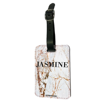 Load image into Gallery viewer, Personalised Premium Gold Cracked Marble Luggage Tag-customxcreations