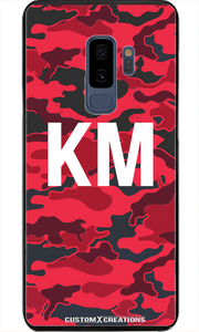 Valencia Red Camo Samsung S8 Plus Case - customxcreations