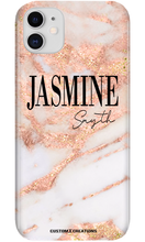 Load image into Gallery viewer, Ultimate Travel Bundle | Personalised Rose Gold Cracked Marble-customxcreations