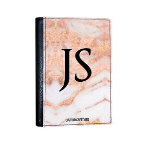 Essential Travel Bundle | Personalised Rose Gold Cracked Marble-customxcreations