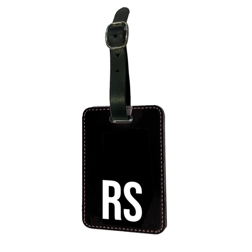 Personalised SOLID Series - Black Luggage Tag