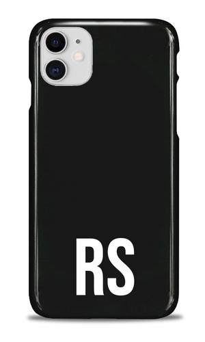 Personalised SOLID Series - Black iPhone Case-customxcreations