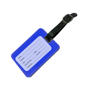 Personalised SOLID Series - Blue Luggage Tag-customxcreations