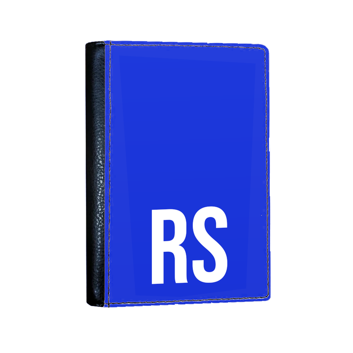 Personalised SOLID Series - Blue Passport Cover-customxcreations