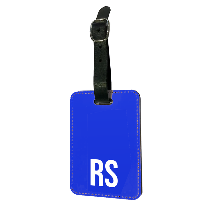 Personalised SOLID Series - Blue Luggage Tag