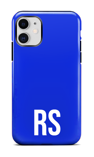 Personalised SOLID Series - Blue iPhone Case-customxcreations