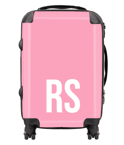 Personalised SOLID Series - Pink Suitcase-customxcreations