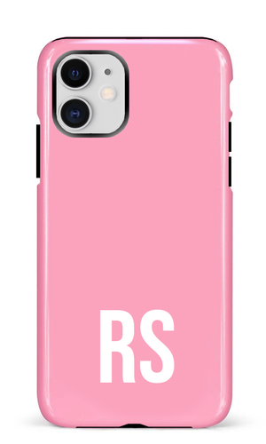 Personalised SOLID Series - Pink iPhone Case-customxcreations