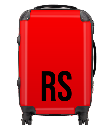 Personalised SOLID Series - Red Suitcase