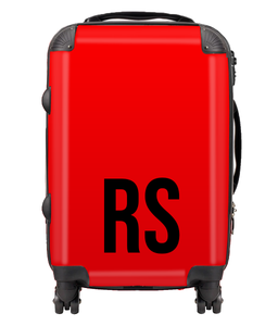 Personalised SOLID Series - Red Suitcase-customxcreations
