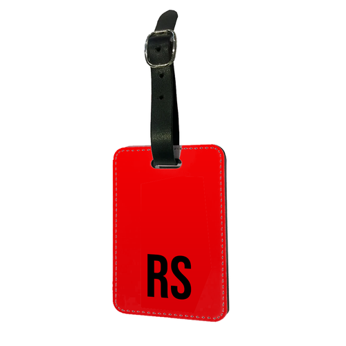 Personalised SOLID Series - Red Luggage Tag