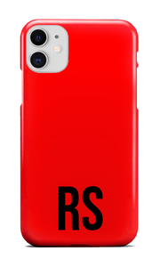Personalised SOLID Series - Red iPhone Case