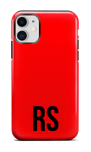 Personalised SOLID Series - Red iPhone Case-customxcreations