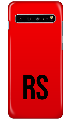 Personalised SOLID Series - Red Samsung Case-customxcreations