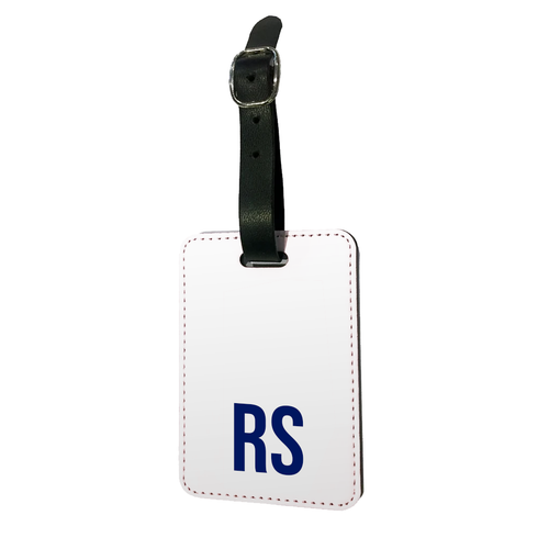 Personalised SOLID Series - White Luggage Tag