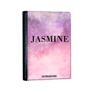 Personalised Tie Dye Pink & Purple Passport Cover