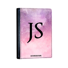 Load image into Gallery viewer, Personalised Tie Dye Pink & Purple Passport Cover