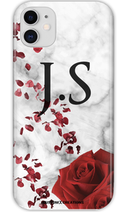 Personalised Valentine Marble iPhone 11 Case - customxcreations