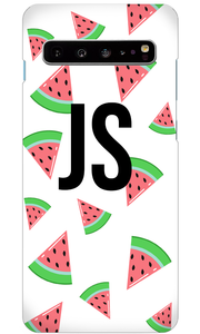 Tropical Watermelon White Samsung Galaxy S10 Plus Case-customxcreations