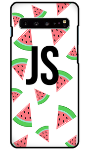 Tropical Watermelon White Samsung Galaxy S10 Plus Case - customxcreations