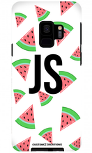 Load image into Gallery viewer, Tropical Watermelon White Samsung Galaxy S9 Case - customxcreations