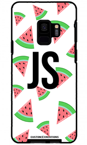 Tropical Watermelon White Samsung Galaxy S9 Case - customxcreations