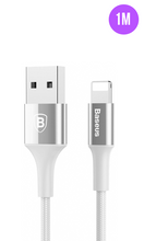 Load image into Gallery viewer, Glossy Silver Premium Lightning Fast iPhone Charging Cable 1M - customxcreations