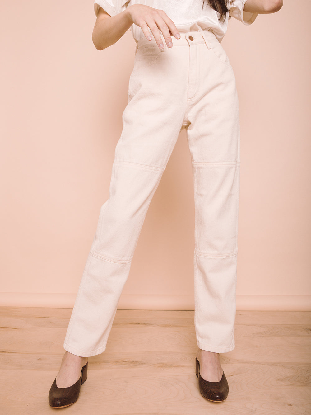 100% COTTON DENIM - NATURAL