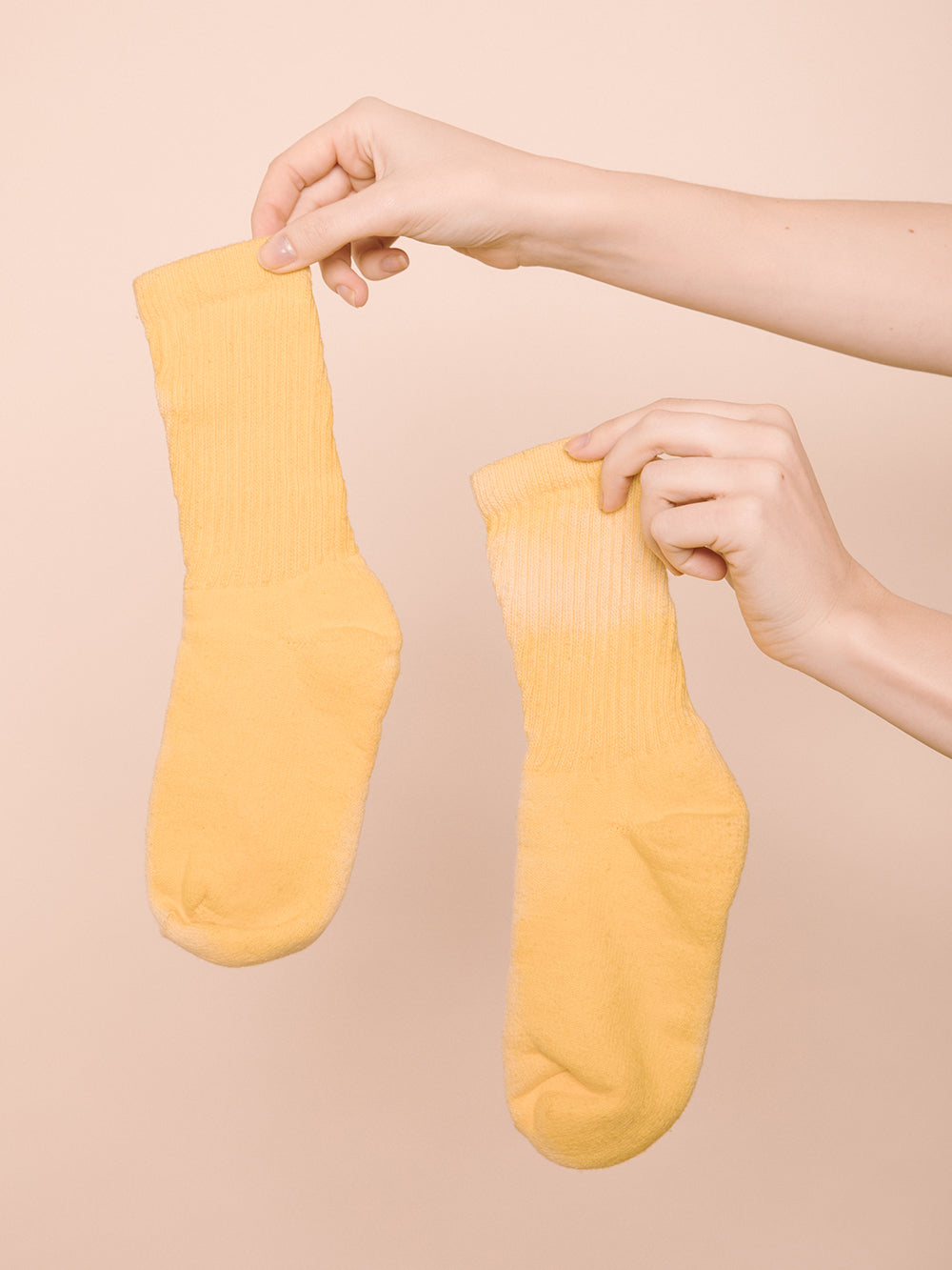 Organic Hand Dyed Socks | Yellow