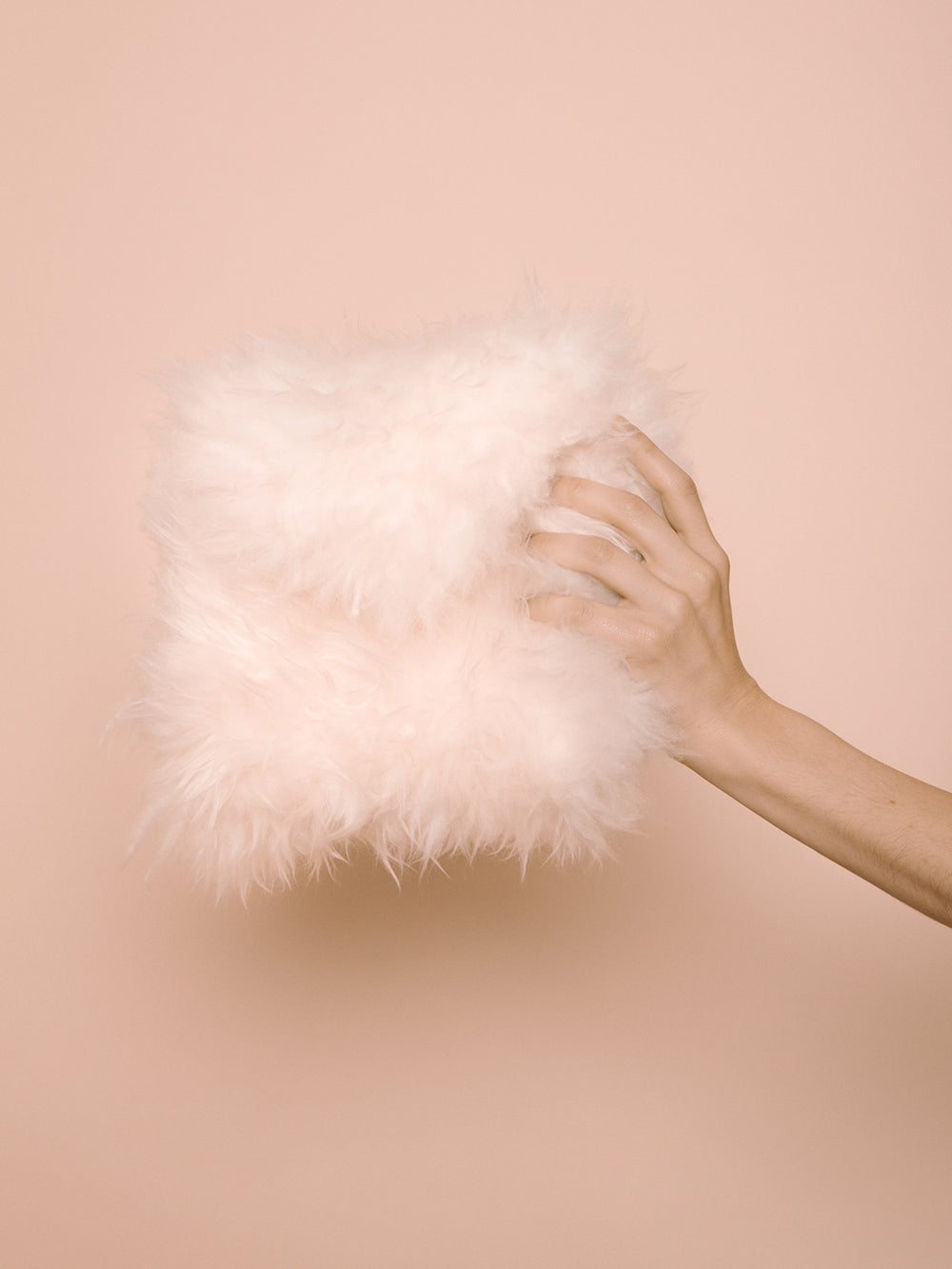 Sheepskin Clutch | Natural
