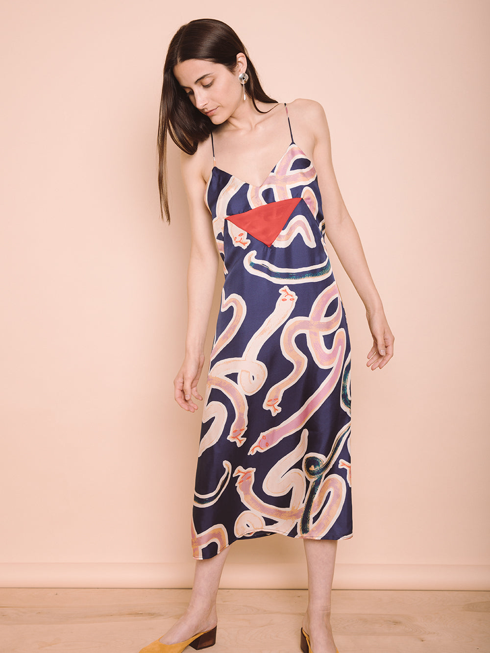 LORETTA SLIP DRESS 100% SILK