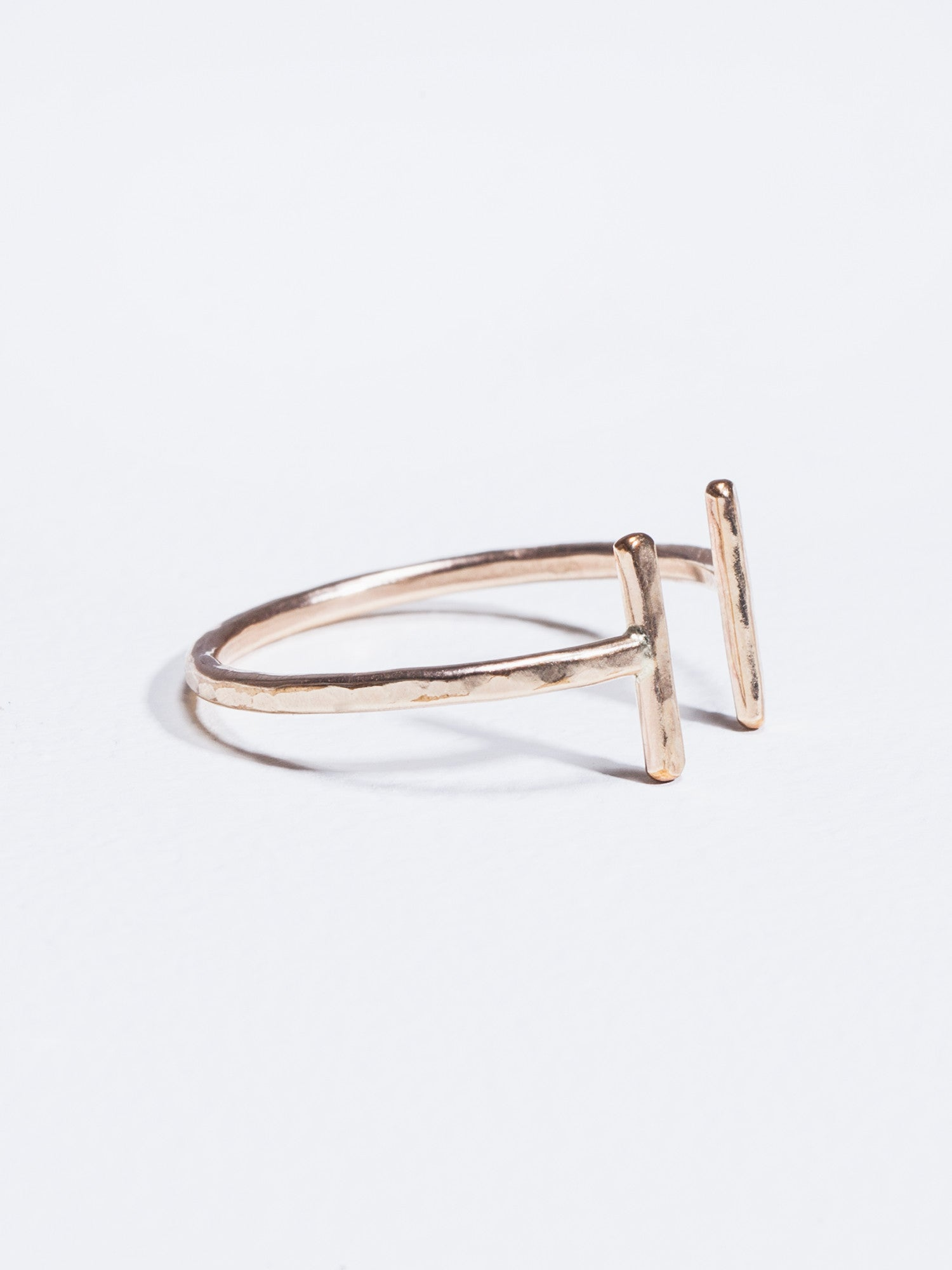 Stefanie Sheehan Open Ring Gold Filled Detail Side