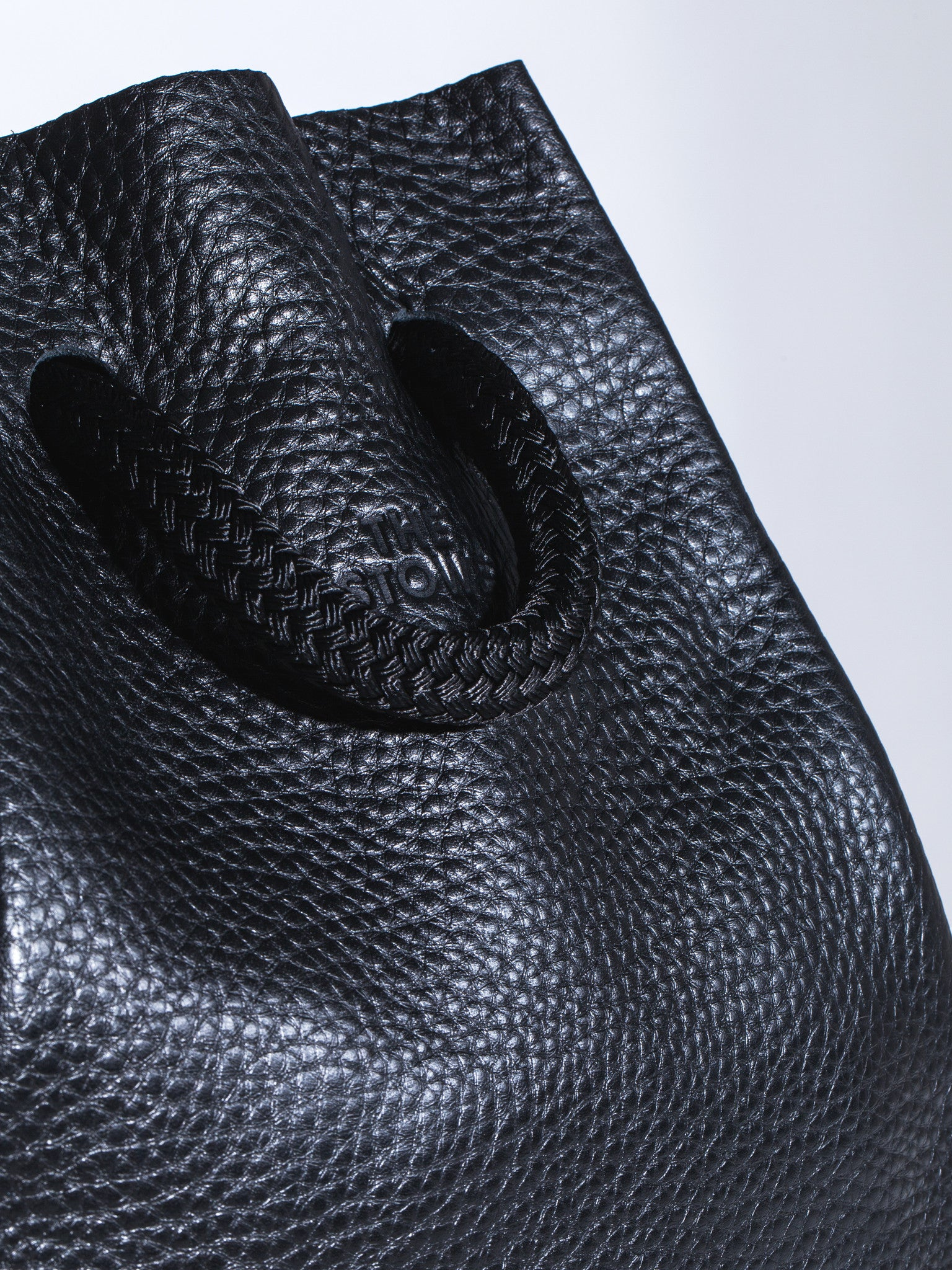 The Stowe Francis Backpack Pebbled Leather Rope Detail