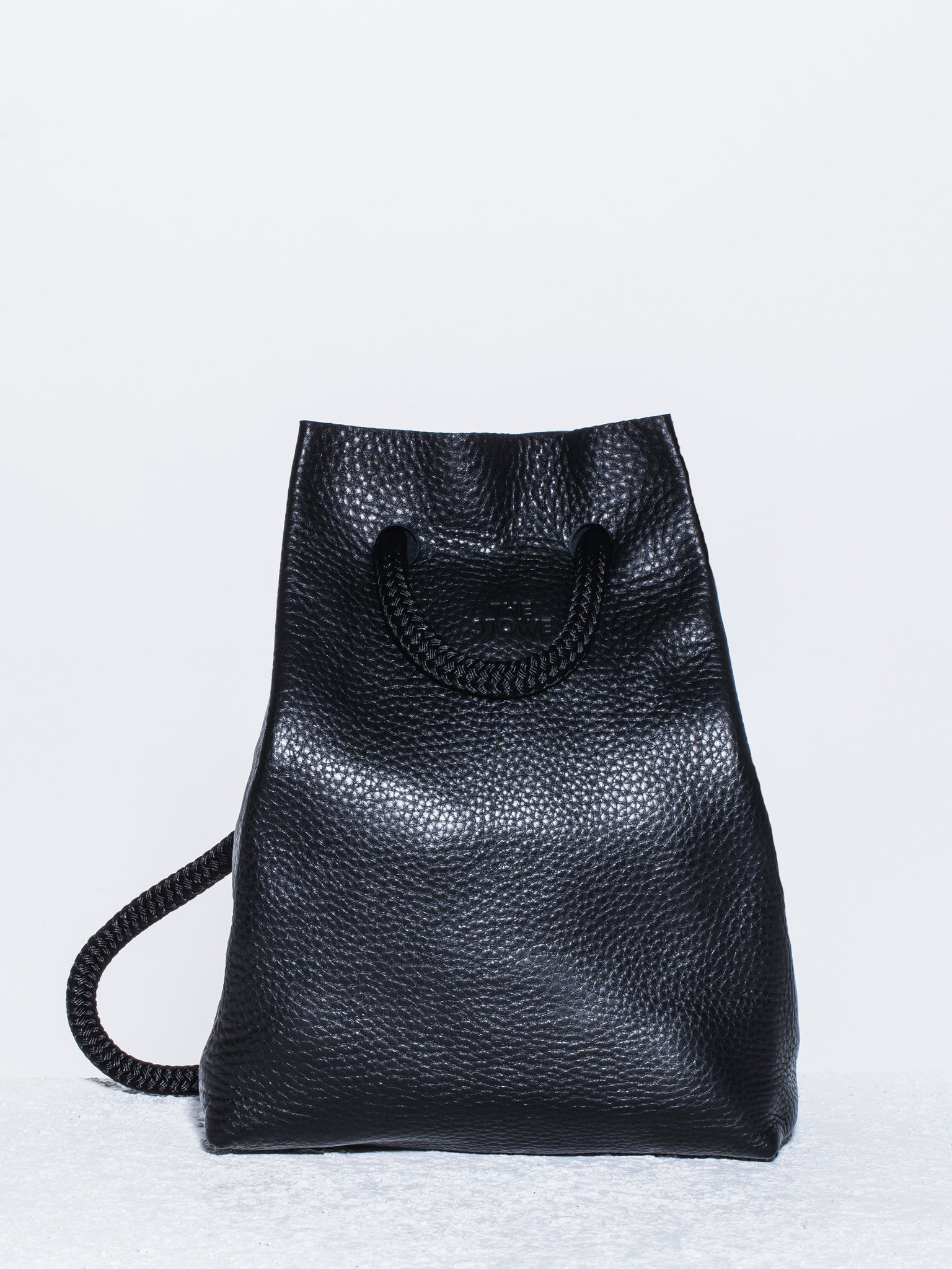 The Stowe Francis Backpack Pebbled Leather Front