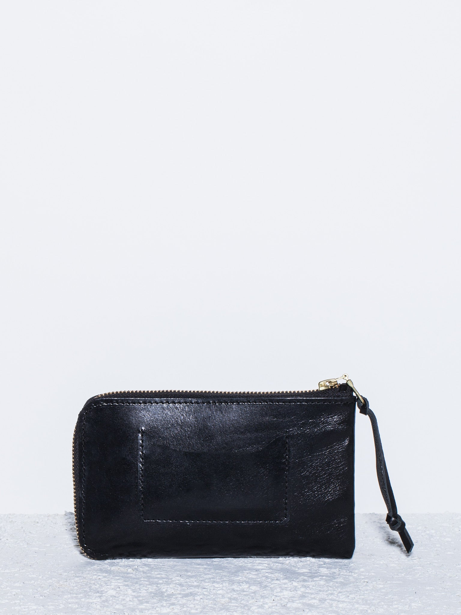 The Stowe Zip Wallet Leather Back