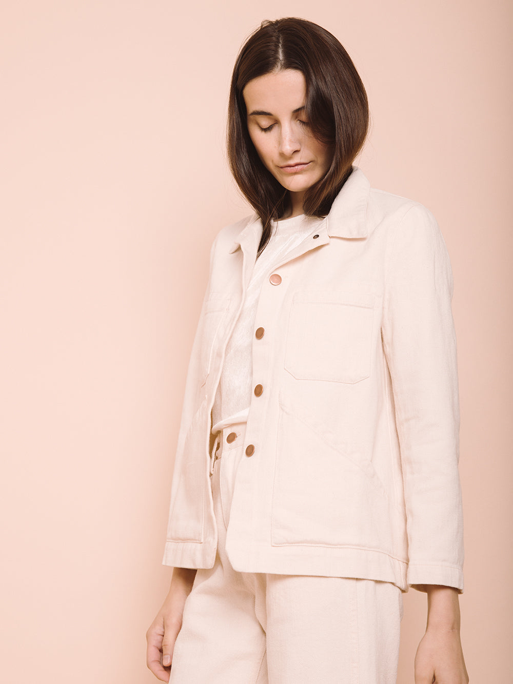 Triangle Pocket Jacket - Natural
