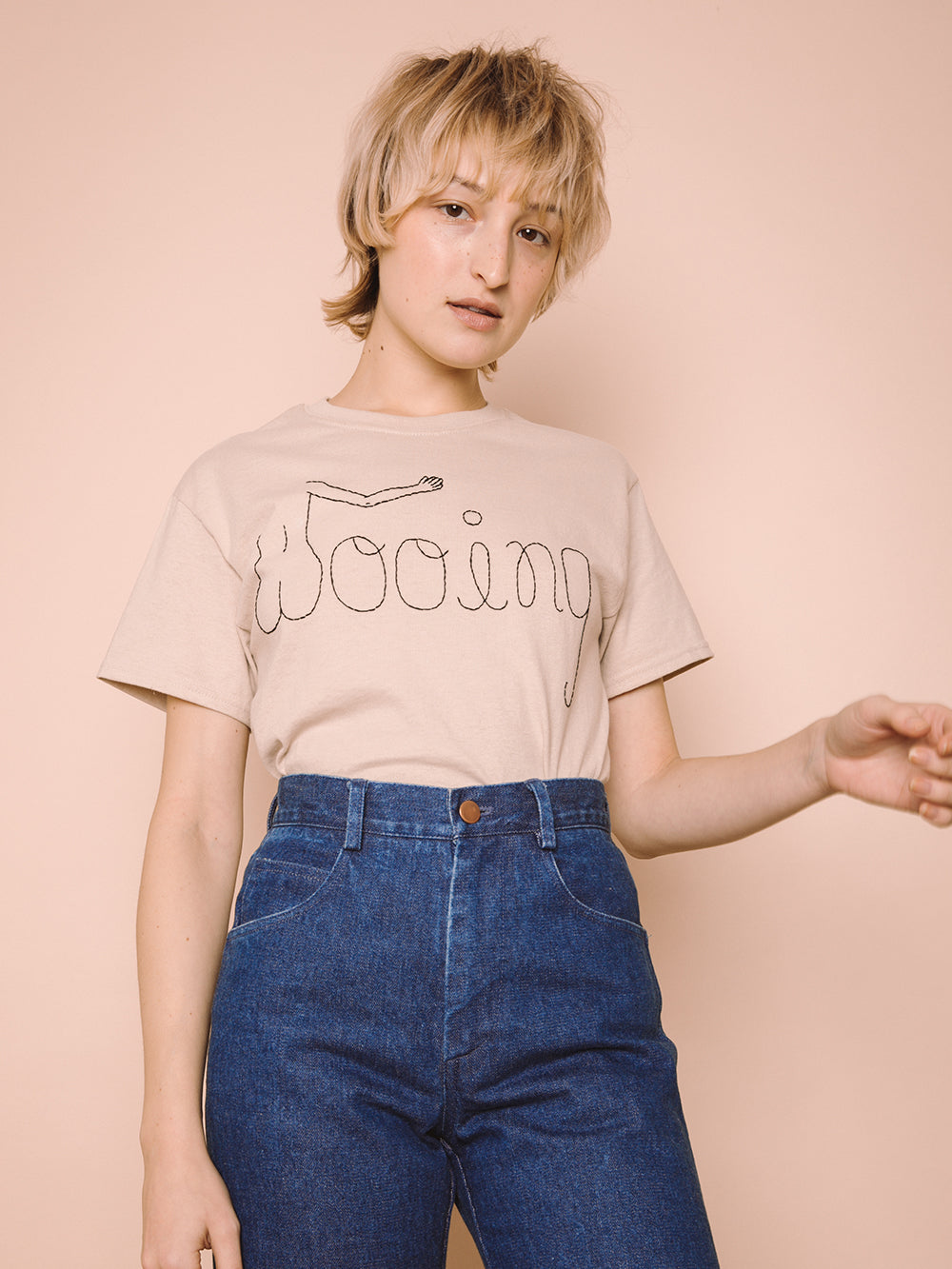 Wooing T-Shirt | Hand Embroidered