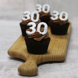 30th Birthday Cupcakes in SILVER