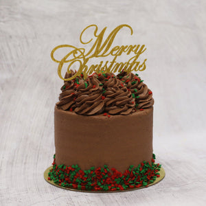 Christmas Gluten Friendly Chocolate Cake 5 Inch