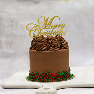 Christmas Vegan Friendly Chocolate Cake 5 Inch