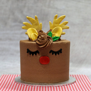Christmas Rudolph the Reindeer Cake