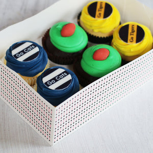 2020 AFL Grand Final - Football/Tigers/Cats Cupcakes Regular Size - 6 Pack