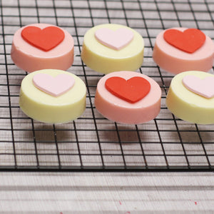 Hearts + Love Chocolate Covered Oreos