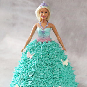 Butterfly Barbie Doll Cake