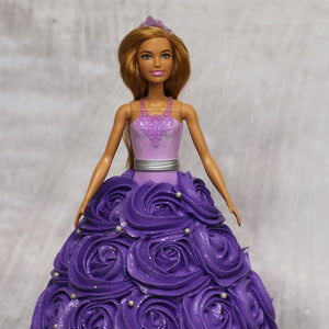 Barbie Purple Swirl Doll Cake